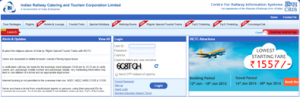 IRCTC Registration Form Signup Create New Account