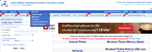 Change IRCTC Password
